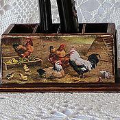 Для дома и интерьера handmade. Livemaster - original item stand for remotes and mobile phones