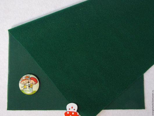 Другие виды рукоделия ручной работы. Ярмарка Мастеров - ручная работа. Купить Велкроткань неклеевая Тёмно-зелёная. Handmade.