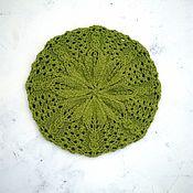 Работы для детей, ручной работы. Ярмарка Мастеров - ручная работа Шапочка-берет Шепот листьев. Handmade.