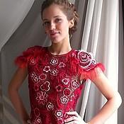 """Одежда ручной работы. Ярмарка Мастеров - ручная работа Платье """"Вишнёвое танго"""". Handmade."""