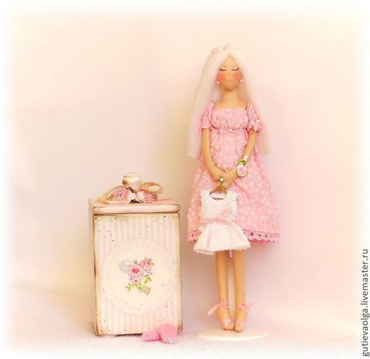Коллекционные куклы ручной работы. Ярмарка Мастеров - ручная работа. Купить Ангел-хранитель. В ожидании чуда.... Handmade. Розовый