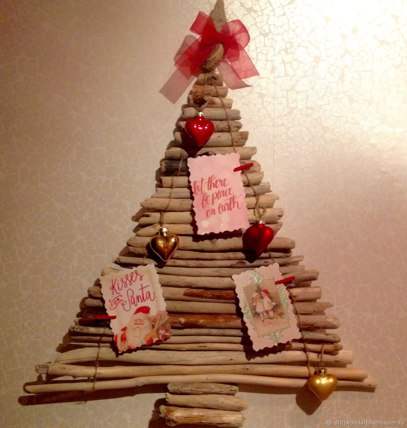Driftwood Christmas tree Winter Norway – shop online on Livemaster ...