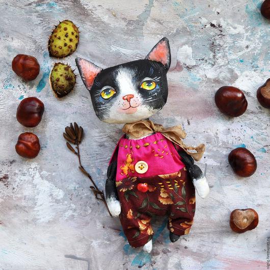 Игрушки животные, ручной работы. Ярмарка Мастеров - ручная работа. Купить Котята. Handmade. Комбинированный, текстильная игрушка, кот