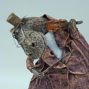 Куклы и игрушки ручной работы. Ярмарка Мастеров - ручная работа Бегемот со скрипочкой. Handmade.