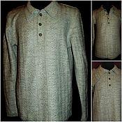 Одежда handmade. Livemaster - original item 70% Linen 30% cotton or 30% wool for a selection of Men`s Polo shirt. Handmade.