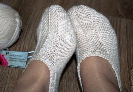 """Носки, Чулки ручной работы. Ярмарка Мастеров - ручная работа. Купить Вязаные носки следки 100%шерсть """"Тёплый вечер"""". Handmade."""