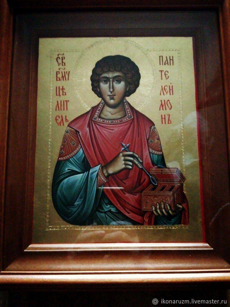 Целитель Пантелеймон, Иконы, Санкт-Петербург,  Фото №1