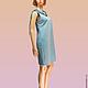 Платья ручной работы. Заказать Платье джинсовое в бисерной вышивкой и драпировкой. Наташа Гауфман (NatashaGaufman). Ярмарка Мастеров. Платье джинсовое