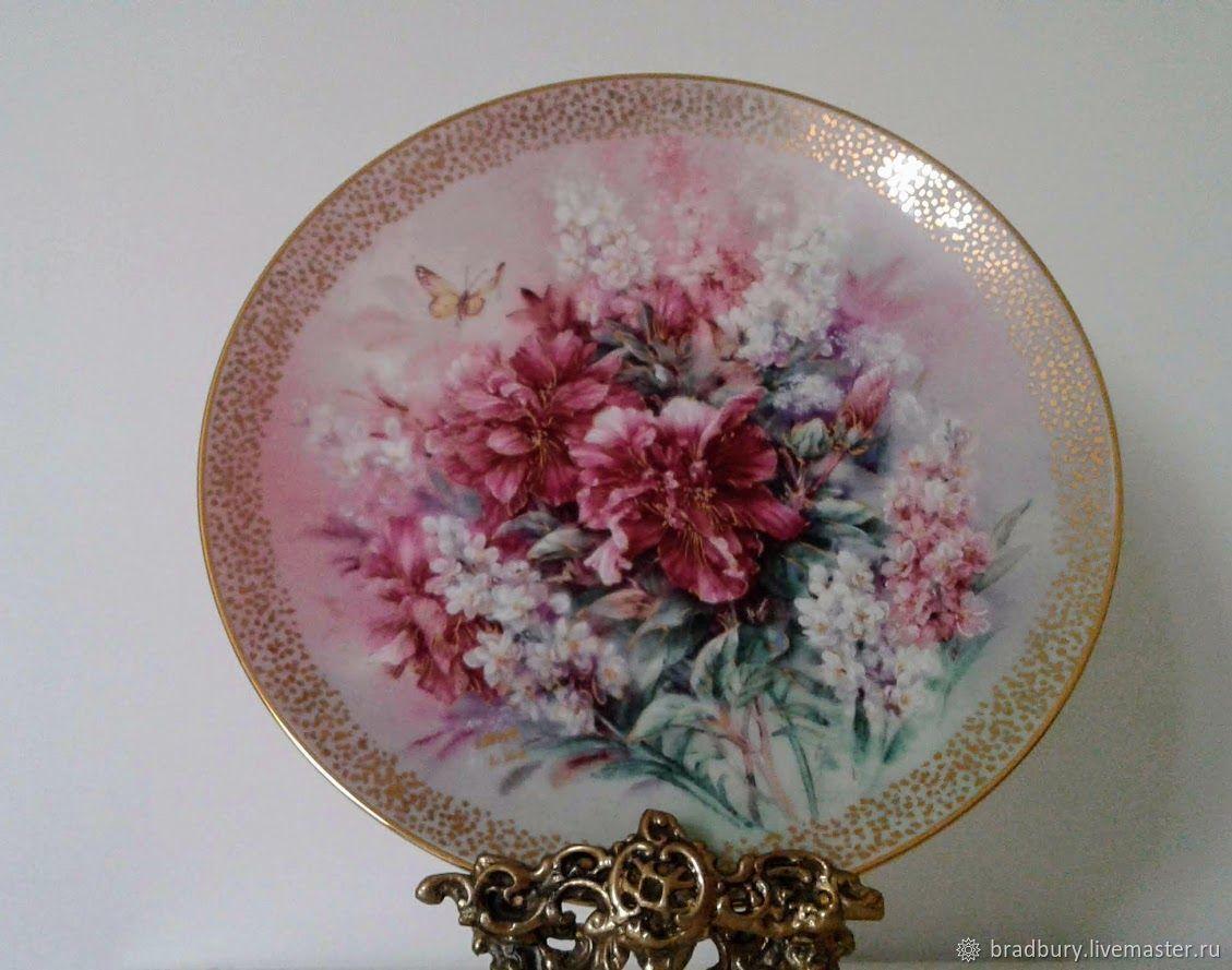 Porcelain Cabinet plates. Lena Liu. England, Vintage interior, Cambridge,  Фото №1