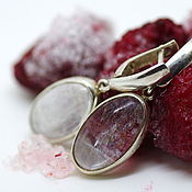 Украшения handmade. Livemaster - original item Earrings with natrolite