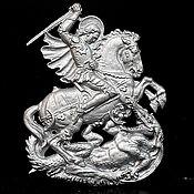 Винтаж handmade. Livemaster - original item Decorative panel made of cast iron. Rider. Handmade.