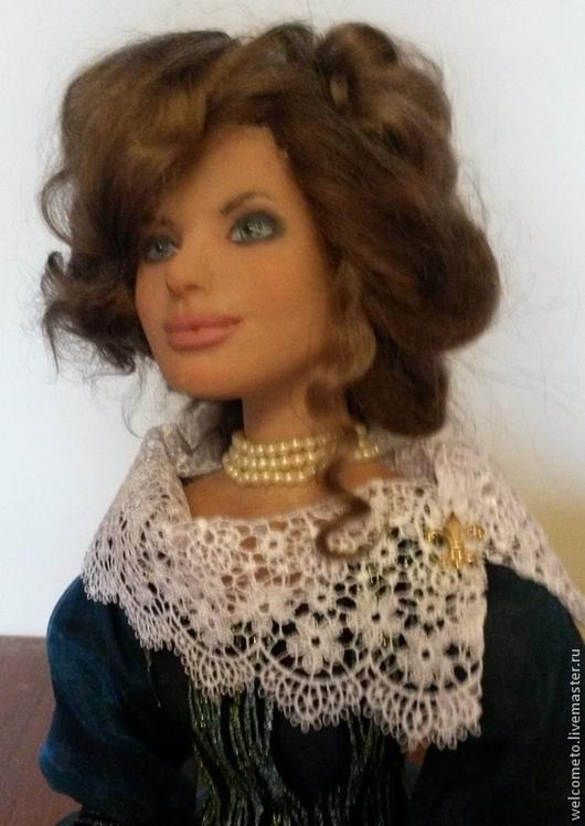 Коллекционные куклы ручной работы. Ярмарка Мастеров - ручная работа. Купить Кукла из пластика Джулия. Handmade. Тёмно-бирюзовый, украшения