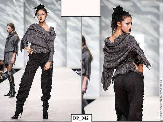 DP_042 «Средневековое» платье-джемпер-туника черно-серебристое + пояс , 53 вискоза, 47 хлопок. Можно одевать вверх ногами - получится платье туника или джемпер.