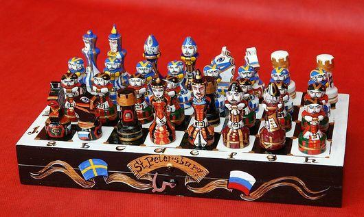 Подарки для мужчин, ручной работы. Ярмарка Мастеров - ручная работа. Купить Шахматы подарочные  Санкт-Петербург авторские. Handmade.