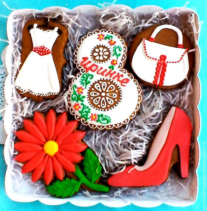Set the gingerbread on March 8. The gift of a friend. Gingerbread, Gingerbread Cookies Set, Rostov-on-Don,  Фото №1
