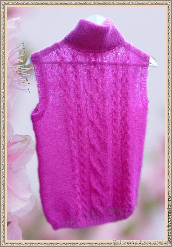Womens vest knitting 'Fuchsia', Childrens vest, Chekhov,  Фото №1