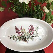 Винтаж handmade. Livemaster - original item Casserole dish, Villeroy&Boch Botanica, Luxembourg. Handmade.