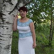 """Одежда ручной работы. Ярмарка Мастеров - ручная работа Платье """"Гжель"""". Handmade."""