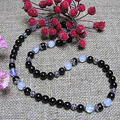 Работы для детей, handmade. Livemaster - original item Garnet and moonstone beads