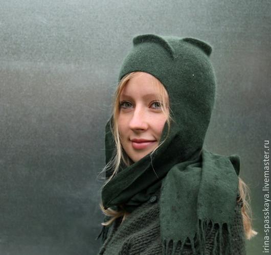 """Шляпы ручной работы. Ярмарка Мастеров - ручная работа. Купить Шляпка """"Дождь в еловом лесу"""" из коллекции """"Бедуины. Поход на север"""". Handmade."""