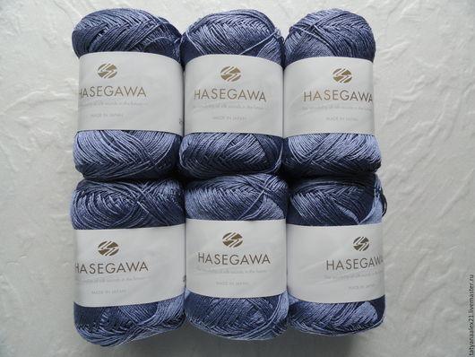 Вязание ручной работы. Ярмарка Мастеров - ручная работа. Купить Пряжа Hasegawa ANEMONE № 633 LIGHT NAVY. Handmade.