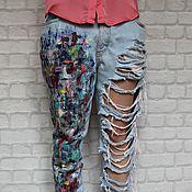 Одежда ручной работы. Ярмарка Мастеров - ручная работа Женские джинсы Art & Co... Handmade.