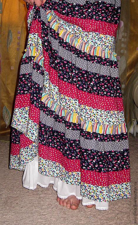 """Юбки ручной работы. Ярмарка Мастеров - ручная работа. Купить Юбка длинная  """"Ностальгия"""". Handmade. Юбка, для лета, красивая юбка"""