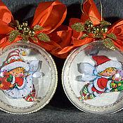 """Набор больших шаров с 3D картинкой """"Новогодние подарки"""""""
