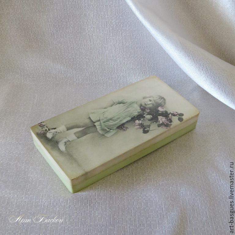 Купюрница    Ретро открытка  деревянная, Шкатулки, Великие Луки,  Фото №1
