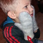 Аксессуары handmade. Livemaster - original item Mittens felted down baby.. Handmade.