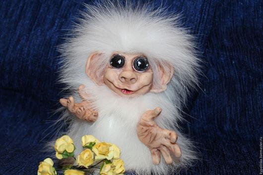 Коллекционные куклы ручной работы. Ярмарка Мастеров - ручная работа. Купить обезьянка. Handmade. Комбинированный, забавная игрушка, полимерная глина
