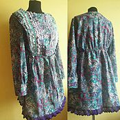 Одежда handmade. Livemaster - original item Boho blouse with lace. Handmade.