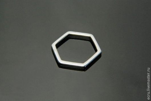 Коннектор шестигранник 10 мм, родиевое покрытие,Южная Корея