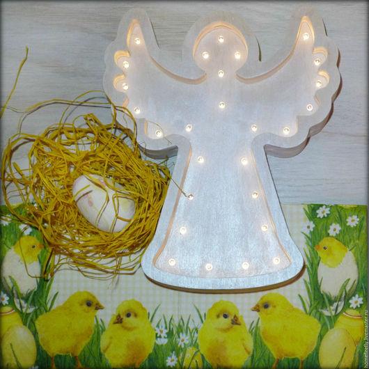 Освещение ручной работы. Ярмарка Мастеров - ручная работа. Купить Ночник Ангел. Handmade. Серебряный, крещение, крещение ребенка, ангел
