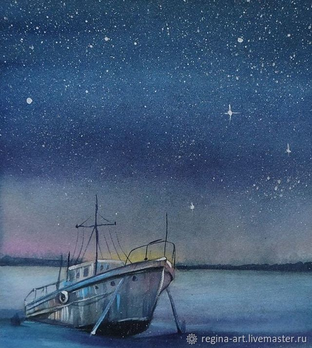 The painting 'the Starry sky', Pictures, Kemerovo,  Фото №1