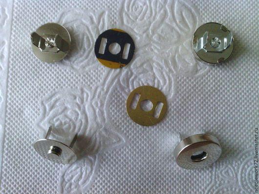 Другие виды рукоделия ручной работы. Ярмарка Мастеров - ручная работа. Купить Магнитная кнопка. Handmade. Серебряный, кнопка магнитная