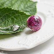 Украшения ручной работы. Ярмарка Мастеров - ручная работа Кулон с яркой розой. Handmade.