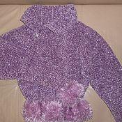Одежда ручной работы. Ярмарка Мастеров - ручная работа Пуловер ручной вязки с шарфом. Handmade.
