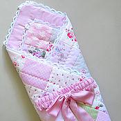 Работы для детей, ручной работы. Ярмарка Мастеров - ручная работа Летнее одеяло-конверт на выписку для новорожденного. Handmade.
