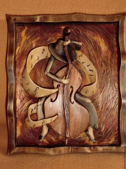 """Абстракция ручной работы. Ярмарка Мастеров - ручная работа. Купить Миниатюра из дерева """"Призрак музыки"""" Художественная резьба. Handmade."""