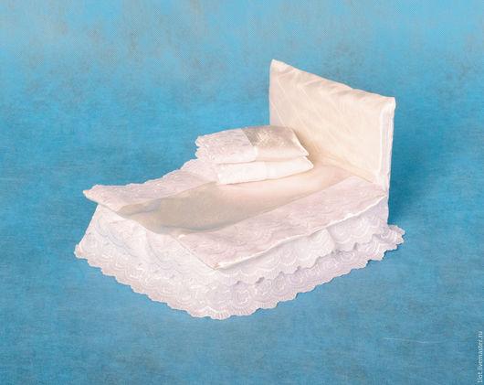 """Кукольный дом ручной работы. Ярмарка Мастеров - ручная работа. Купить Кроватка для куклы  """"Анастасия""""(2) (1). Handmade. Белый, поролон"""