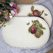 """Для дома и интерьера ручной работы. Ярмарка Мастеров - ручная работа Подставка для тарелок """"Фрукты"""". Handmade."""