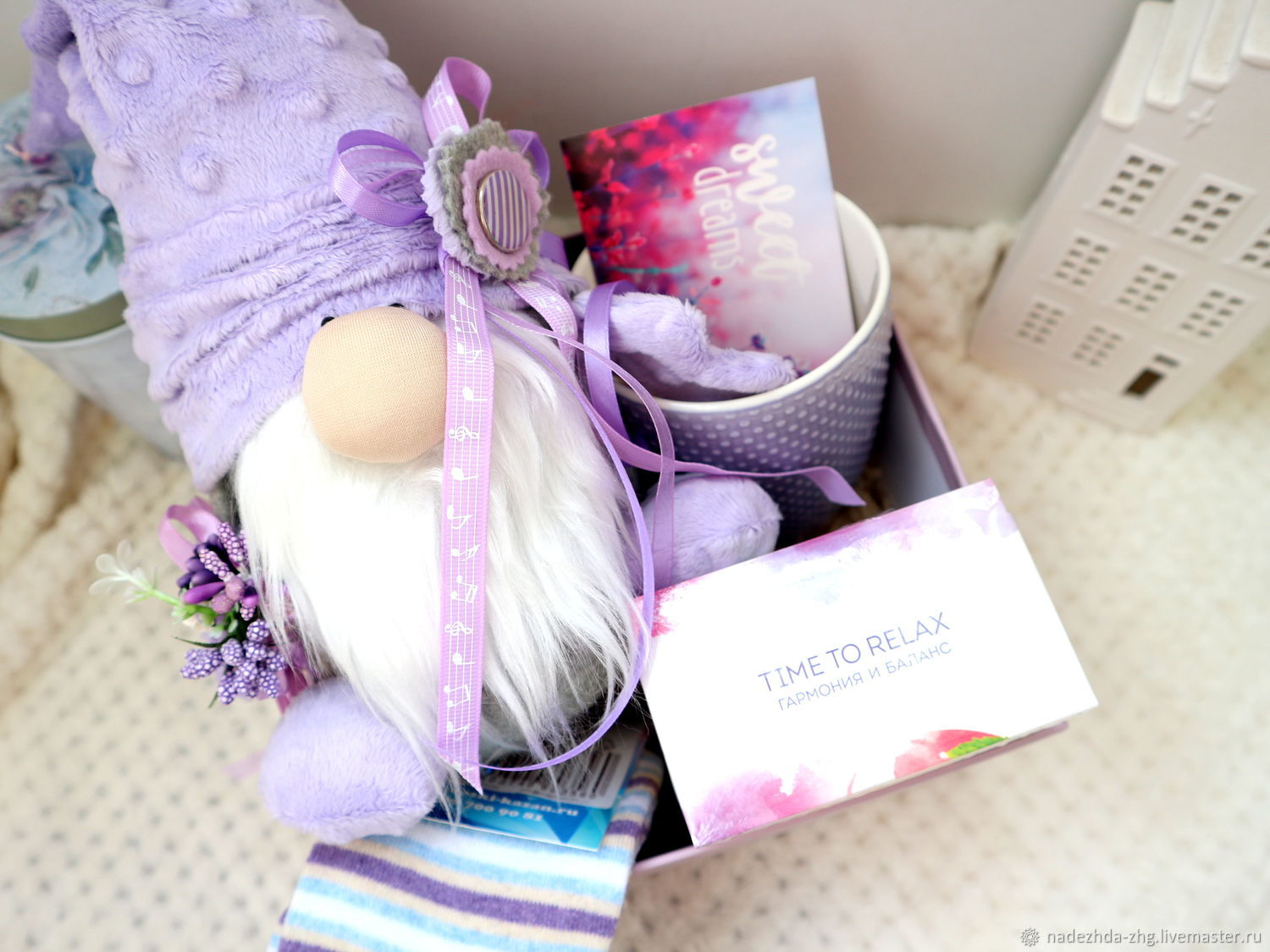 Gift box with a handmade gnome, a gift to a girl, Gift Boxes, Ekaterinburg,  Фото №1