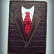 Канцелярские товары ручной работы. Ярмарка Мастеров - ручная работа Обложка для паспорта Настоящий мужчина. Handmade.
