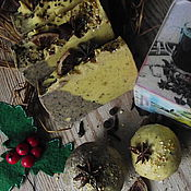Косметика ручной работы. Ярмарка Мастеров - ручная работа Мыло с нуля «Апельсиновый глинтвейн». Handmade.