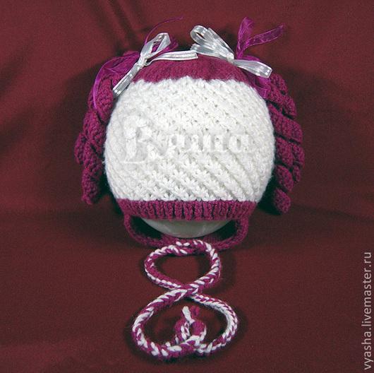 """Шапки и шарфы ручной работы. Ярмарка Мастеров - ручная работа. Купить Шапочка """"Кудряшки"""", детская, вязаная для девочек, осенняя, весенняя. Handmade."""