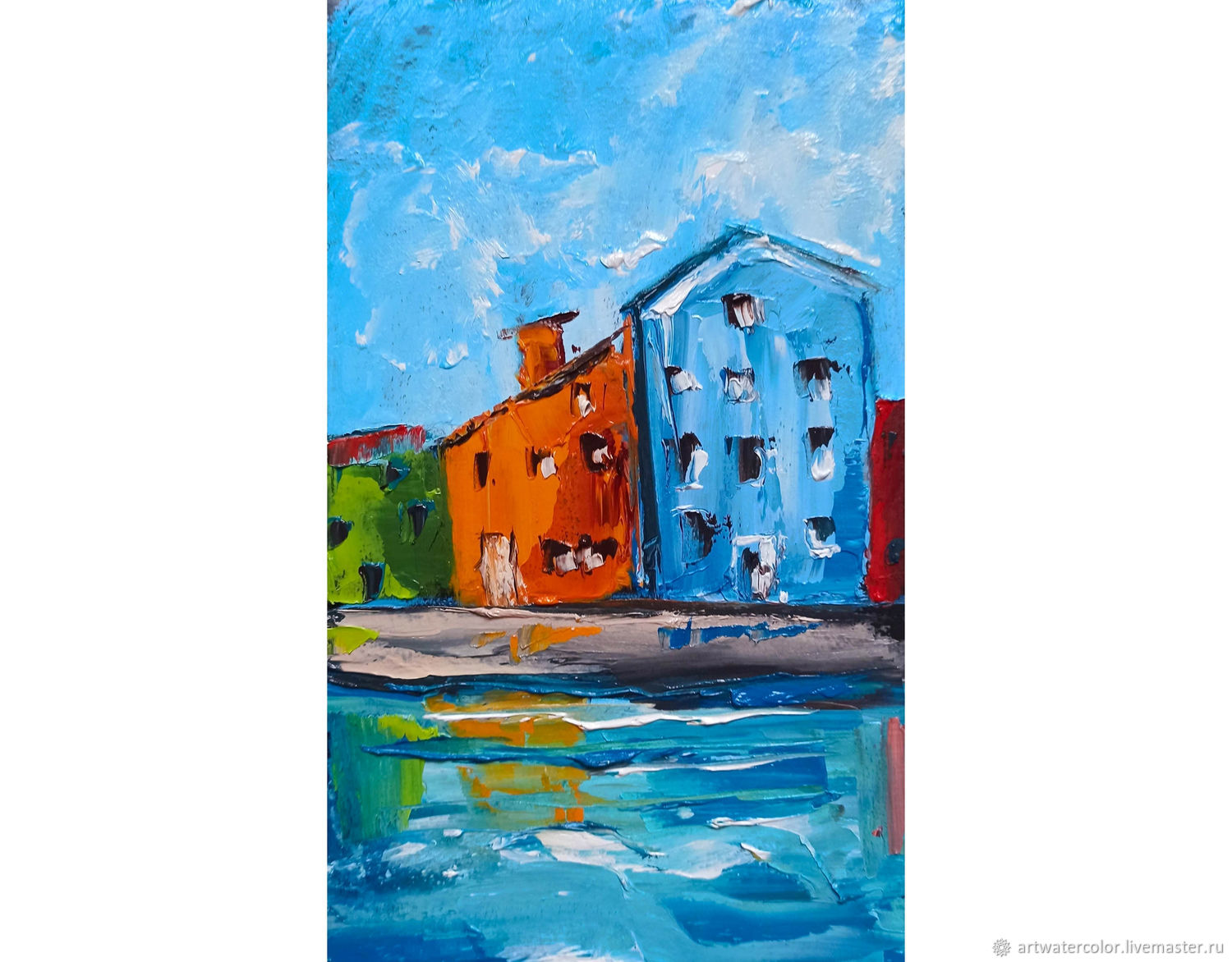 Oil painting Houses of Venice Cityscape, Pictures, Moscow,  Фото №1