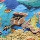 """Пейзаж ручной работы. Картина из шерсти """"Подводный сад"""". Макарова Оксана (sanzharka). Ярмарка Мастеров. Кораллы, шерсть, волокна вискозы"""