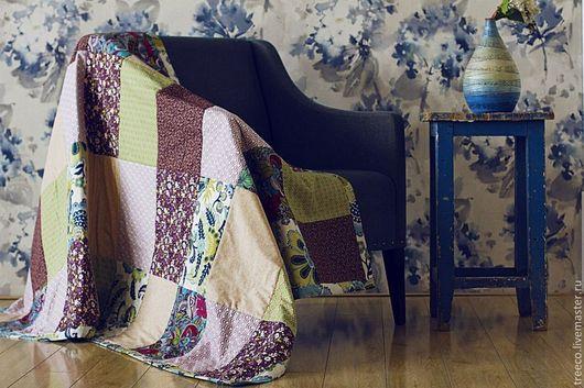 Текстиль, ковры ручной работы. Ярмарка Мастеров - ручная работа. Купить Лоскутное одеяло 117х200 см. Handmade. Лоскутное одеяло