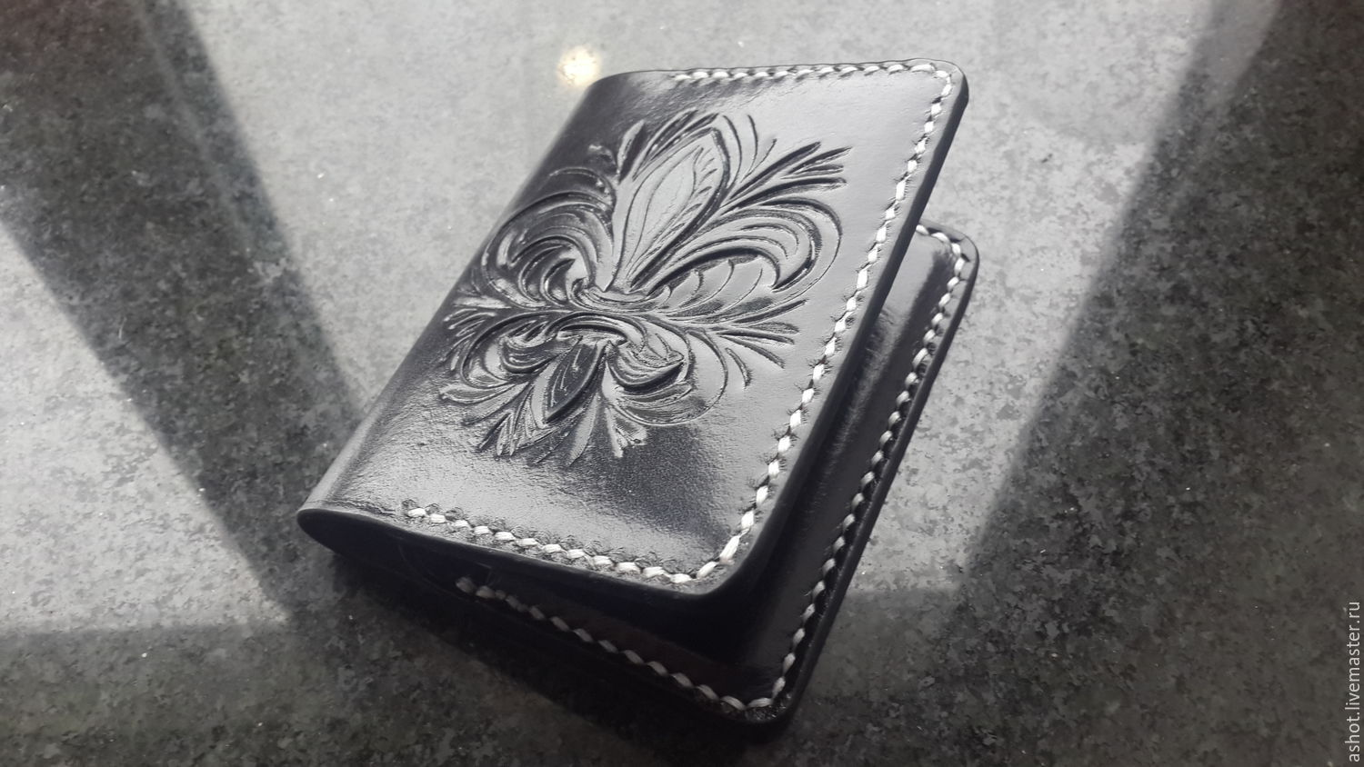 Personalized leather wallet, image, business card, monogram, personal, Business card holders, Yoshkar-Ola,  Фото №1
